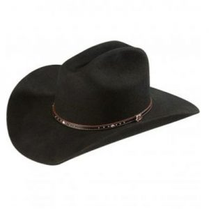 0242 2X Justin Black Hills Jr Wool Hat