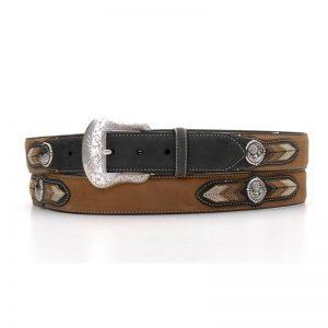 N2441601 Nocona Western Leather Belt w/ Concho