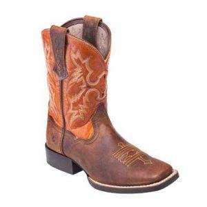 6227 Ariat Tombstone Kids Wide Sq Boots