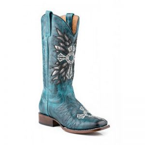 0440 LD Roper Cross Western Boot