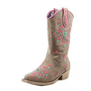 50202 Savvy Floral Snip Toe Boots