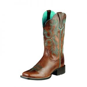 8017 Ariat Tombstone Wide Sq Ladies Boots
