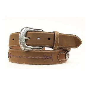 N2474644 Nocona Barbed Lace Longhorn Concho Belt