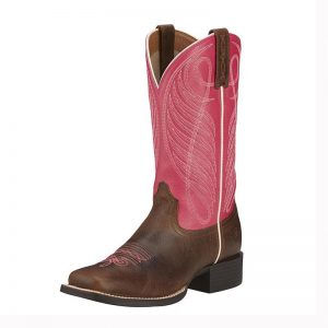 6319 LD Ariat Round Up Wide Sq Boots