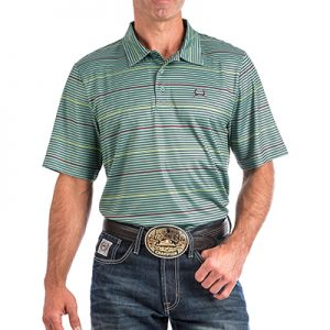 5004 Men's Cinch ArenaFlex Striped S/S Polo