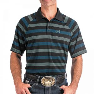 8002 Men Cinch ArenaFlex Striped Polo