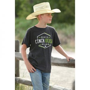 0081 Boy's Cinch Heather Rodeo Tee