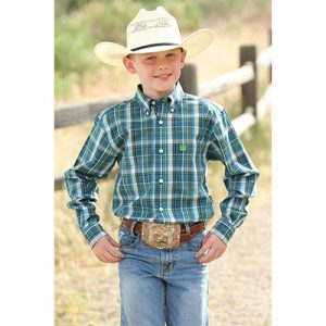 0209 Boy's Cinch Plaid Button Down Shirt