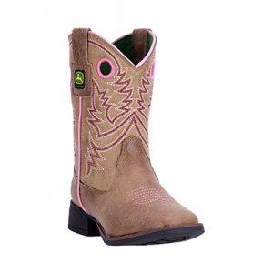 JD2021 Girl's John Deere Sq Boots