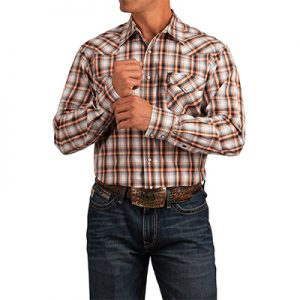 3032 MN Cinch Plaid Snap Western Shirt