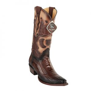 King Exotic Men's Ostrich Leg Snip Toe Boots
