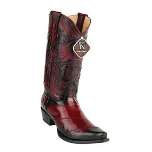King Exotic Men's Eel Snip Toe Boots