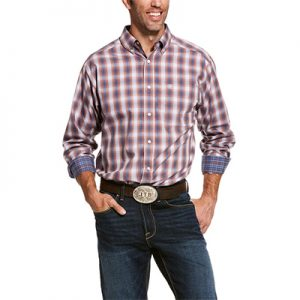 8073 Men's Ariat Wrinkle Free Valero Classic Fit Shirt