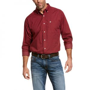 8303 Men's Ariat Wrinkle Free Wallice Classic Fit Shirt