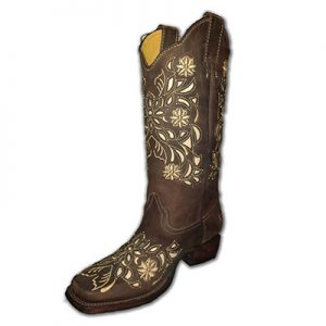 5889 Ladies Innovation Embroidered Studded Inlay Boots