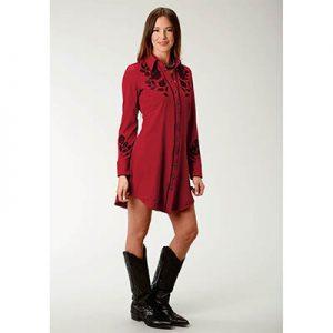 0103 Roper Women Western L/S Dress