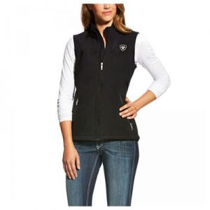 0762 Ariat Women's New Team Softshell Vest Black