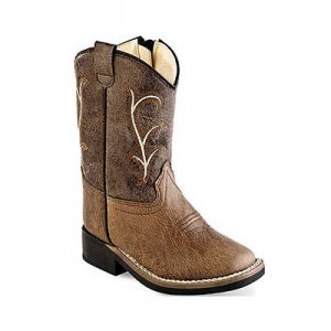 VB1013 Toddlers Old West Western Sq Boots