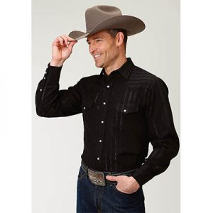 0713 Men's Roper Stripe Tone on Tone Western Snap Shirt