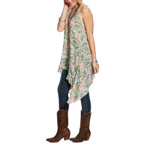 5472 Ariat Women's Petal Camp Flora A-Line Tank Top