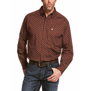 8795 Ariat Men's Adkison Stretch Button Down Shirt