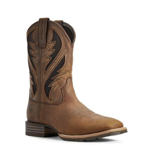 1454 Ariat Men's Distressed Tan Hybrid VentTEK Boots