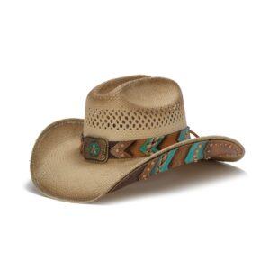 1838 CHC Panama Straw Western Hat-Lone Star