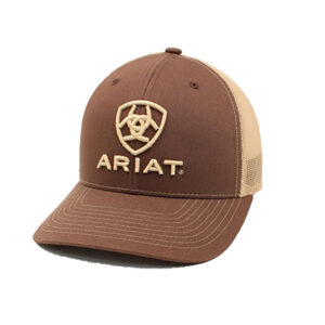 03102 Ariat Mens Brown Embroidered Logo Snapback Cap