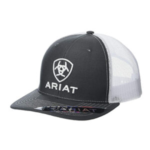 03206 Ariat Men's Grey Embroidered Logo Snapback Cap
