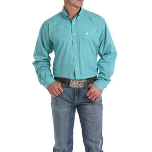 4907 Men's Cinch Geometric Print Button-Down Western Shirt