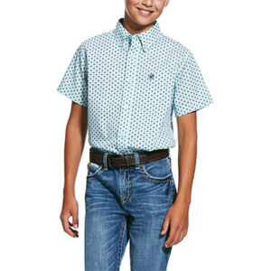 1929 Boy's Ariat Reedley Print Stretch Classic Fit Shirt