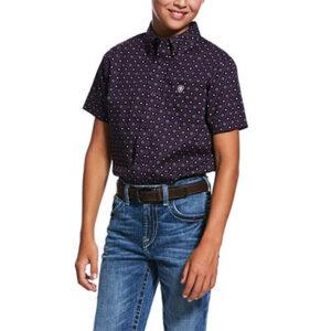1928 Boy's Ariat Redland Print Classic Fit Shirt