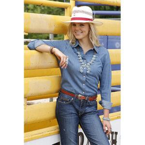 5001 Ladies Cruel Snap Western L/S Fringe Shirt