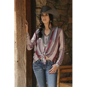 9001 Ladies Cruel Stripe L/S Sweater Shirt