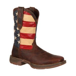 5554 Durango Men's Patriotic Pull-on Flag Boots